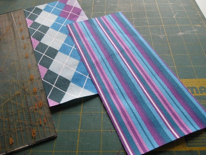 Cut your two rectangles - I love this bright fabric!