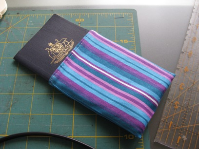 Finished passport pouch