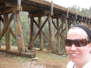 Never been so glad to get to a landmark - this bridge marked the end of our hike.